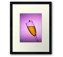 Fishing On A Cup Of Champange Framed Print
