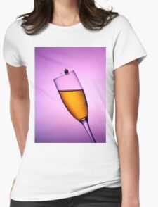 Fishing On A Cup Of Champange Womens Fitted T-Shirt