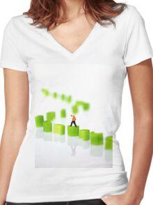 Walking On Celery Women's Fitted V-Neck T-Shirt