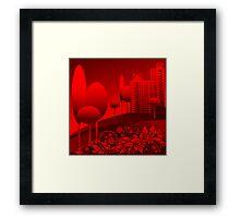 red urban Framed Print