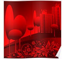red urban Poster