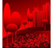 red urban Photographic Print