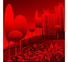 red urban Photographic Print