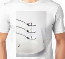 People Playing Golf On Spoons Unisex T-Shirt