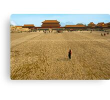 Taihe Square, Forbidden City, China. Canvas Print