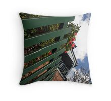 The Green Fence Throw Pillow