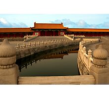 Golden Stream & Wuying Hall, Forbidden City Photographic Print