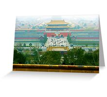 Forbbiden City, Beijing, China. Greeting Card