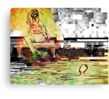 pixelation  Canvas Print