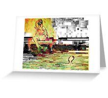 pixelation  Greeting Card