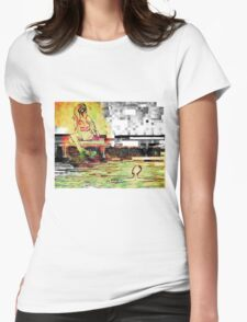 pixelation  Womens Fitted T-Shirt