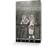 Bar Flys Greeting Card