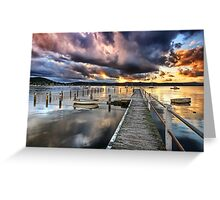 Dusk Lightshow Greeting Card