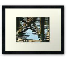 under the dock Framed Print