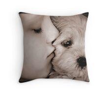 Puppy love... Throw Pillow