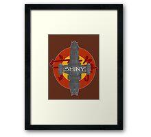 SHINY Framed Print