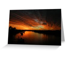 Fire in the evening sky  Greeting Card