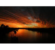 Fire in the evening sky  Photographic Print