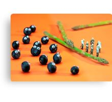 Blueberry Protesting Metal Print