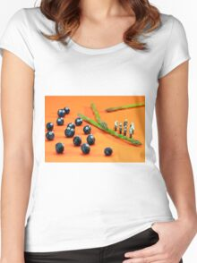 Blueberry Protesting Women's Fitted Scoop T-Shirt