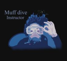 Muff dive instructor (womens inc dark colour design) by Katja Fønss