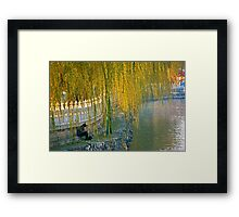 Bei Hai Lake, Beijing, China. Framed Print