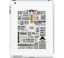 The Wise Words of Dwight Schrute (Light Tee) iPad Case/Skin