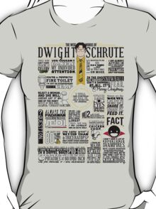 The Wise Words of Dwight Schrute (Light Tee) T-Shirt