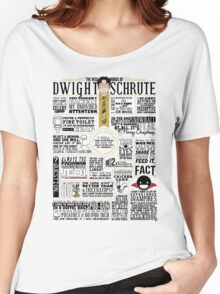 The Wise Words of Dwight Schrute (Light Tee) Women's Relaxed Fit T-Shirt
