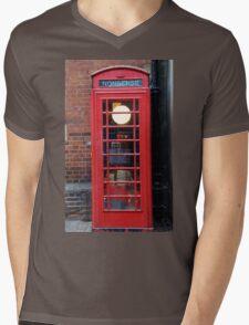 Unusual phone box Mens V-Neck T-Shirt