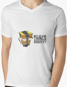 ClapTrap Troubles Mens V-Neck T-Shirt