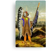 A Mandan Red Indian Chief, Rocky Mountains, North America Canvas Print