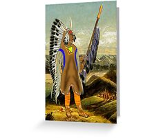 A Mandan Red Indian Chief, Rocky Mountains, North America Greeting Card