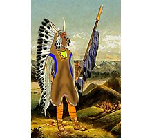 A Mandan Red Indian Chief, Rocky Mountains, North America Photographic Print