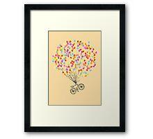 Bike & Balloons Framed Print