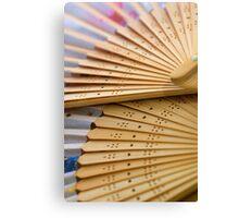 Oriental wooden fan Canvas Print