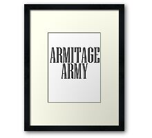 Richard Armitage Army Framed Print