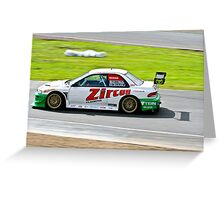 McRae flat out in an Impreza Greeting Card