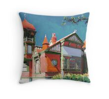 Villa Montezuma San Diego California painting by RD Riccoboni Throw Pillow