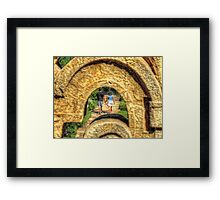 Through the Key Hole Framed Print
