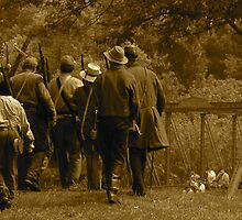 American Civil War Reenactment Sepia by Jim Caldwell