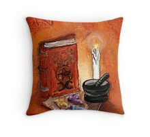 Book of Spells (Color) Throw Pillow