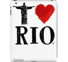 I Heart Rio de Janeiro (blk) by Tai's Tees iPad Case/Skin