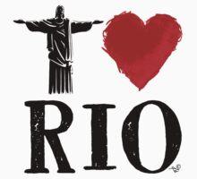 I Heart Rio de Janeiro (blk) by Tai's Tees Kids Tee