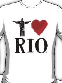 I Heart Rio de Janeiro (blk) by Tai's Tees T-Shirt
