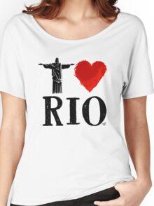 I Heart Rio de Janeiro (blk) by Tai's Tees Women's Relaxed Fit T-Shirt