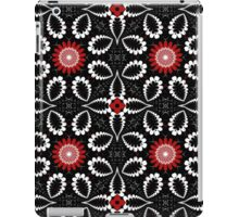 Decorative patterns and flowers in black, white and red iPad Case/Skin