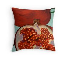 picked off the pomegranate tree Throw Pillow