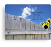 God's Summer Colors Canvas Print