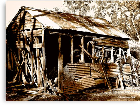 Aussie Outback Shed by Peter Evans
